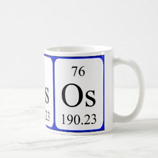 Taza del blanco del elemento 76 - osmio