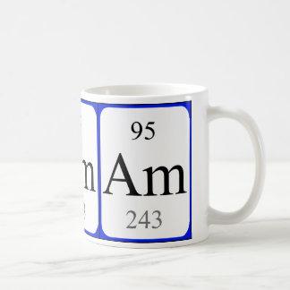 Taza del blanco del elemento 95 - americio