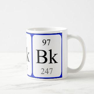 Taza del blanco del elemento 97 - berkelio