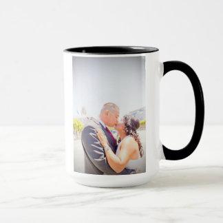 Taza del boda de Jenifer y de Greg