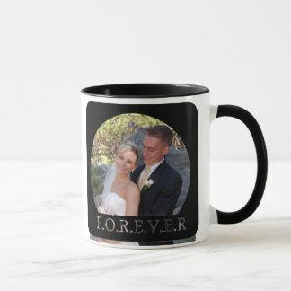 taza del boda de la foto
