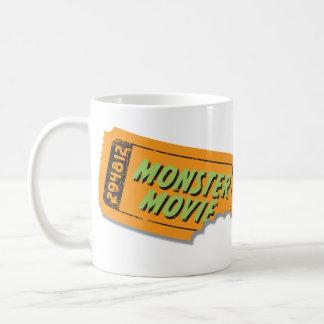 Taza del boleto de la película del monstruo