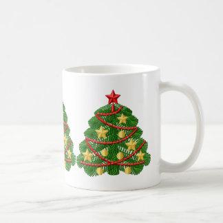 Taza del Bordado-Estilo del árbol de navidad