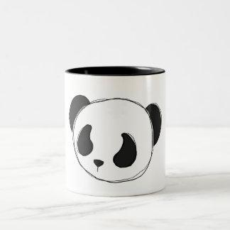 taza del bosquejo de la panda