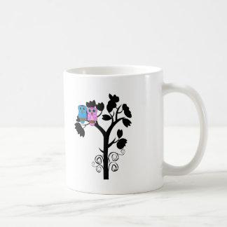 Taza del búho - pájaros del amor - regalos para