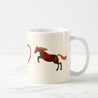 Taza del caballo de los potros del amor de la paz