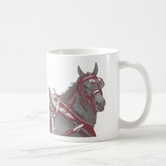 Taza del caballo de Percheron