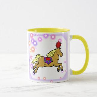Taza del caballo del circo