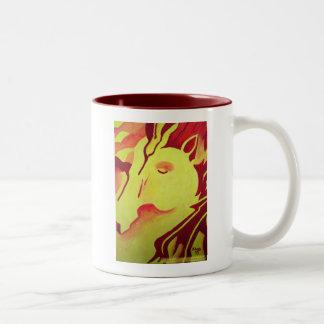 Taza del caballo del fuego
