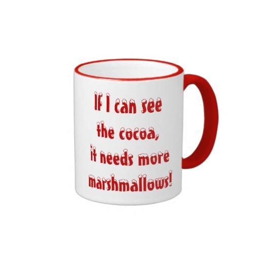 Taza del cacao del amante de la melcocha