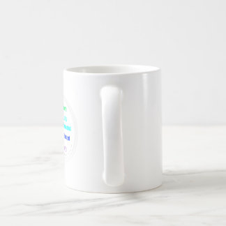 Taza del café de encargo del círculo de Blissed de
