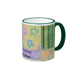 Taza del café de Quilter del remiendo