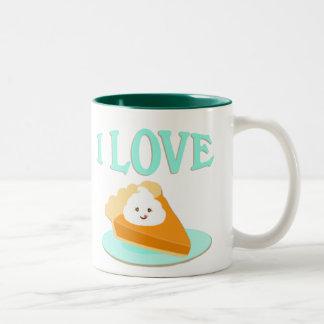 Taza del café del amante del pastel de calabaza