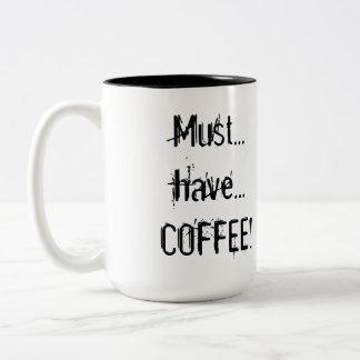 """Taza del """"café"""" del Emoticon de Drooly"""