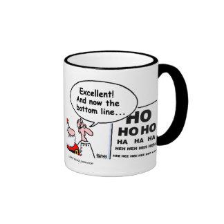 Taza del café del optometrista de Santa divertido