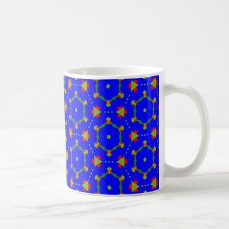 Taza del café/del té con el diseño azul de agosto