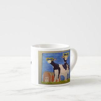 Taza del café express con el carácter de Vaca-Toon Taza Espresso