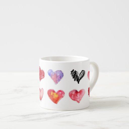 Taza del café express de 12 corazones del amor Art