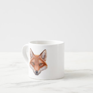 Taza del café express de la cara del Fox rojo Taza Espresso
