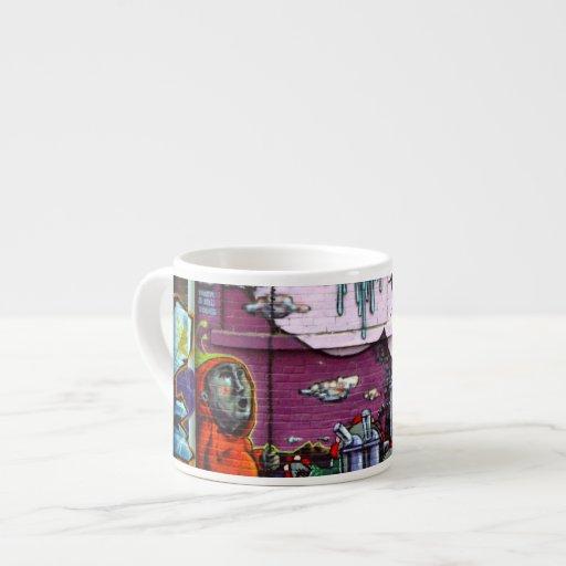 Taza del café express de la foto de la pintada de  tazas espresso