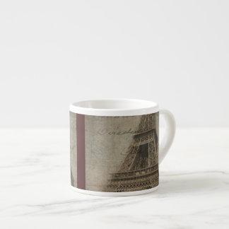 Taza del café express de la torre Eiffel Taza Espresso