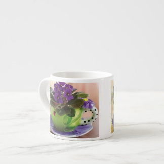Taza del café express de la violeta africana taza espresso