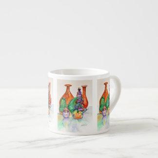 Taza del café express de los colores secundarios taza espresso