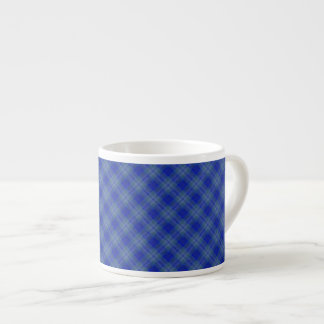 Taza del café express de los cuadrados del azul y  taza espresso