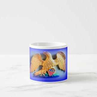 taza del café express del águila del oro taza espresso