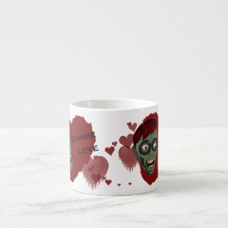 Taza del café express del amor del zombi taza espresso