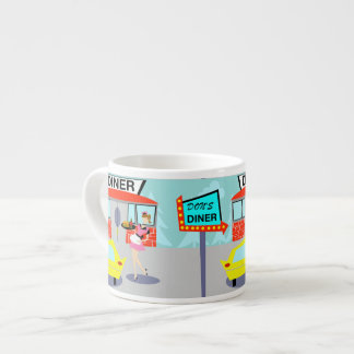 taza del café express del comensal de los años 50 taza espresso