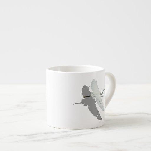 Taza del café express del Egret del vuelo Taza Espresso
