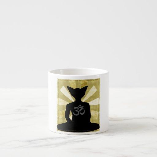 Taza del café express del gato de Buda Taza Espresso