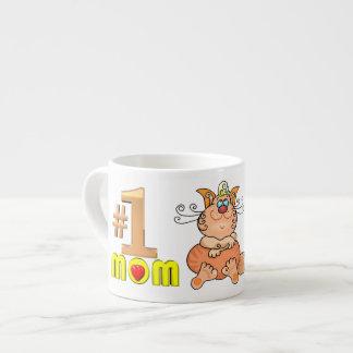 Taza del café express del gato de la mamá del núme