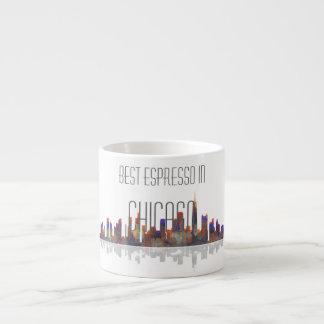 Taza del café express del horizonte de Chicago