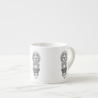 taza del café express del logotipo del edificio de taza espresso