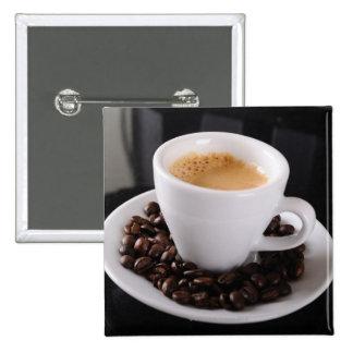 Taza del café express en contador negro del granit pin cuadrada 5 cm