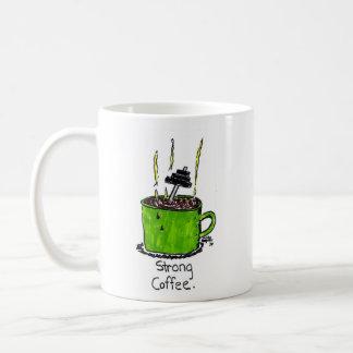 """Taza del """"café fuerte"""" por los DIBUJOS ANIMADOS de"""