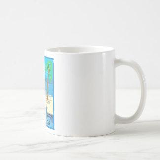 Taza del café o del té del tema de la playa