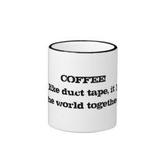 Taza del café y de la cinta aislante