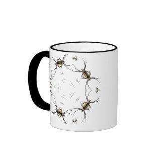 Taza del caleidoscopio de la araña del Argiope