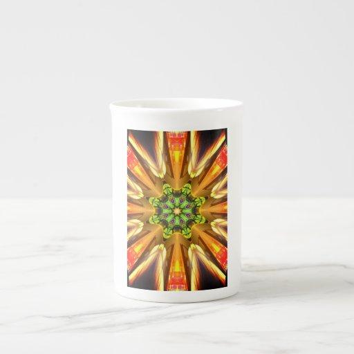 Taza del caleidoscopio taza de porcelana