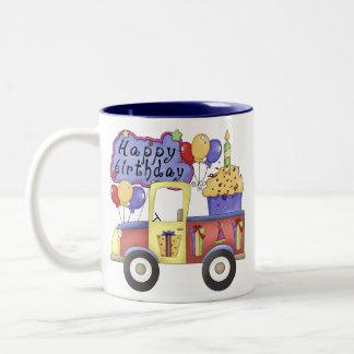 Taza del camión del feliz cumpleaños