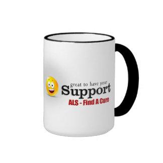 Taza del campanero de la ayuda del ALS