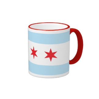 Taza del campanero de la bandera de Chicago