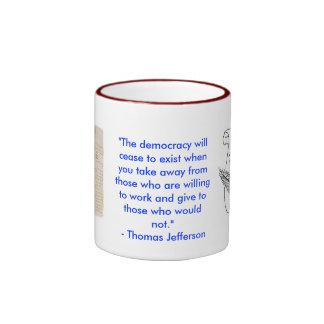 Taza del campanero de Thomas Jefferson de los valo