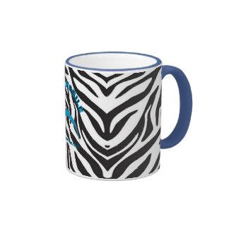 Taza del campanero del estampado de zebra de Hyper