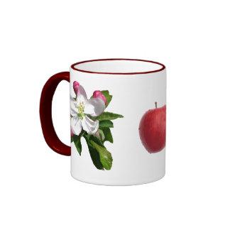 taza del campanero del flor de la manzana