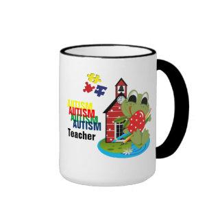 Taza del campanero del profesor del autismo
