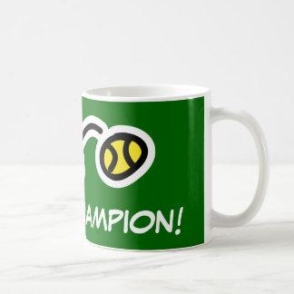 Taza del campeón del tenis para los jugadores y